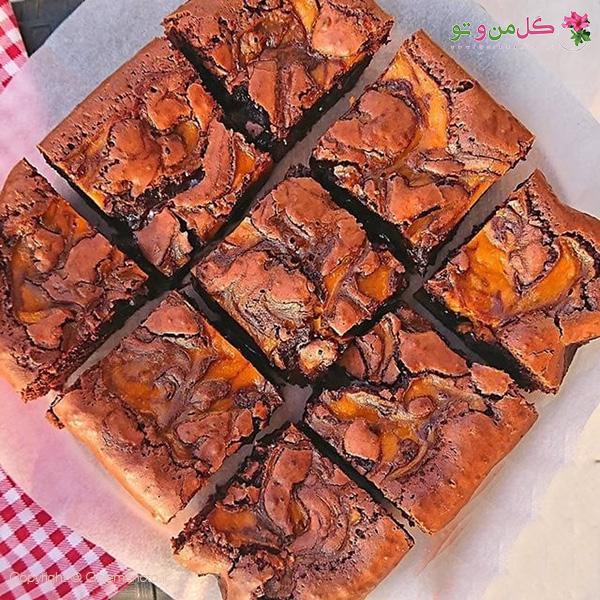 بروانی شکلاتی و کدو حلوایی