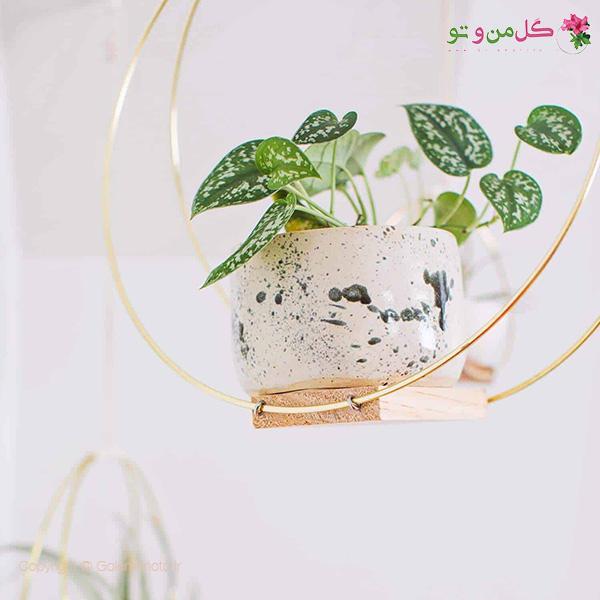 ساخت آویز زیبا برای گلدان