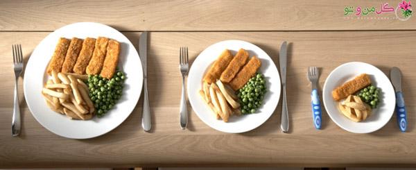 5 گام برای ثابت نگهداشتن وزن ایده آل : حجم غذایی