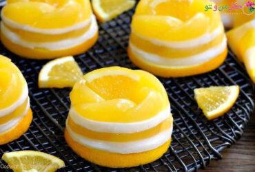 طرز تهیه محلبی دو رنگ پرتقال و نارنگی