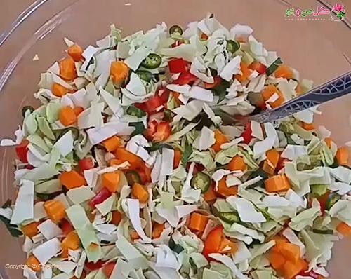 مخلوط کردن سبزیجات