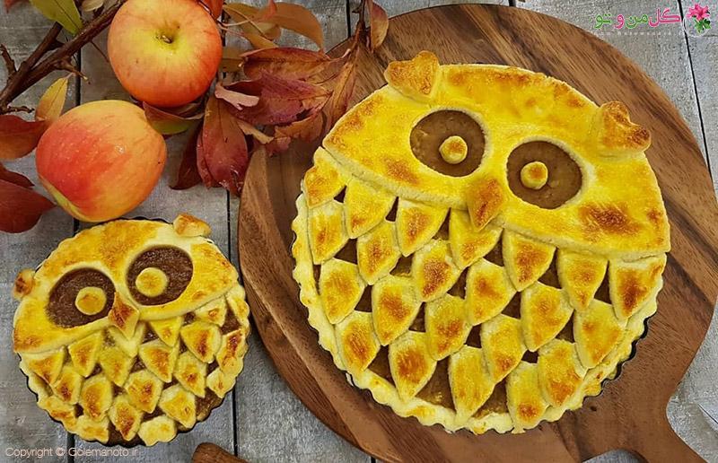 طرز تهیه پای سیب با تزیین جالب