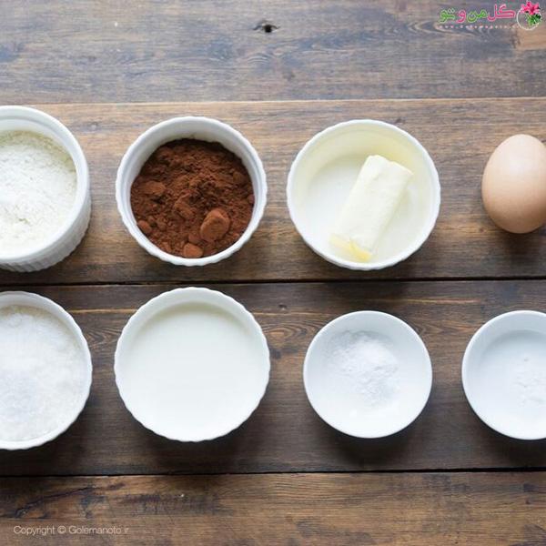 مواد لازم برای تهیه دونات شکلاتی