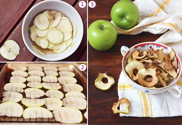 طرز تهیه چیپس میوه سیب