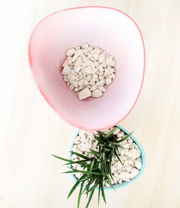 ساخت گلدان پایه دار - کاشت گل