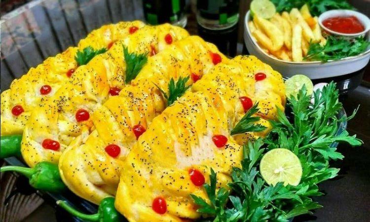 طرز تهیه اشترودل مرغ و قارچ