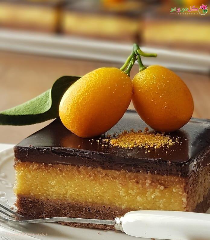 دسر پرتقالی شکلاتی