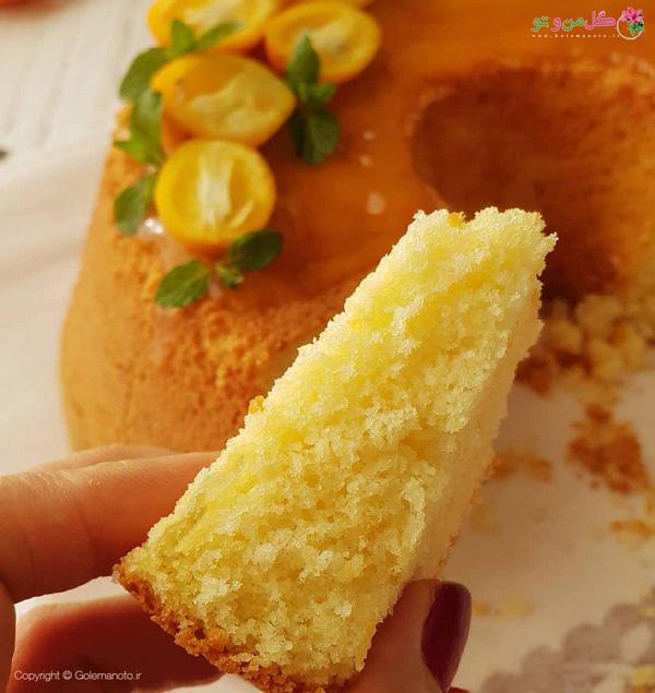 بافت کیک پرتقالی