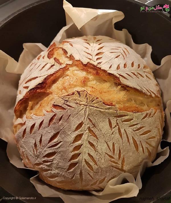 روش دوم پخت نان خمیر ترش