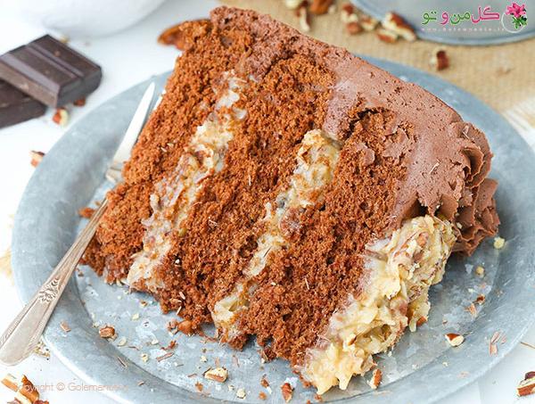 طرز تهیه کیک شکلاتی آلمانی رسپی دوم