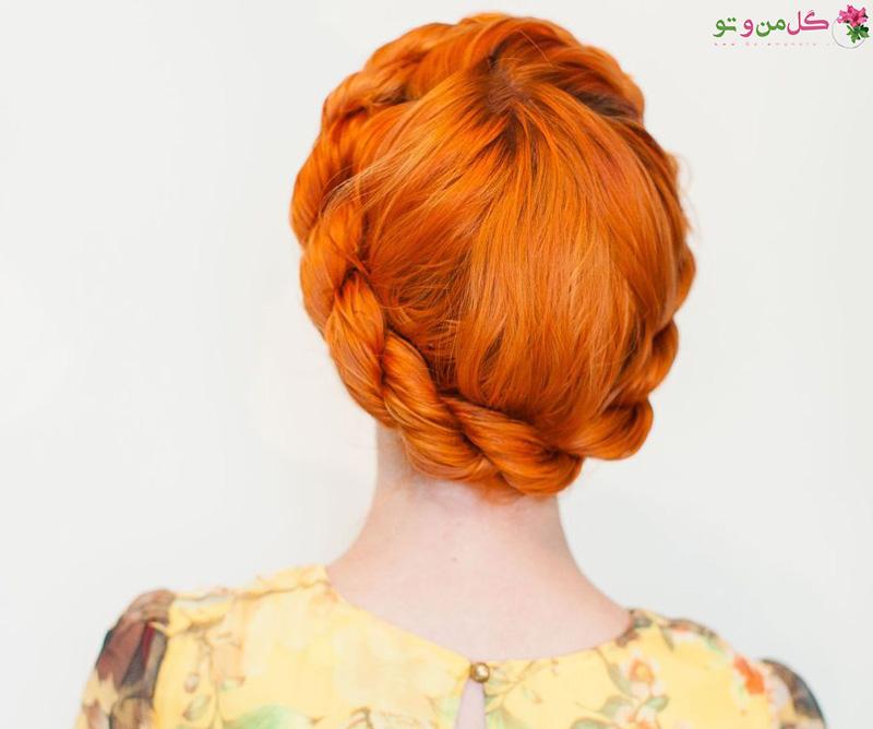 مدل موی تاج مخصوص موهای خیس
