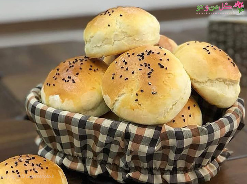 golemanoto 7862545105759142708 n طرز تهیه نان همبرگر خانگی به همراه ویدیو