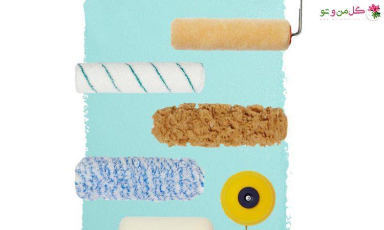 از چه غلطک رنگی باید برای رنگ آمیزی دیوار استفاده کنیم ؟