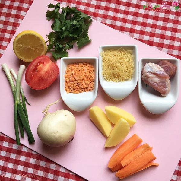 مواد لازم برای سوپ سرماخوردگی کودکان