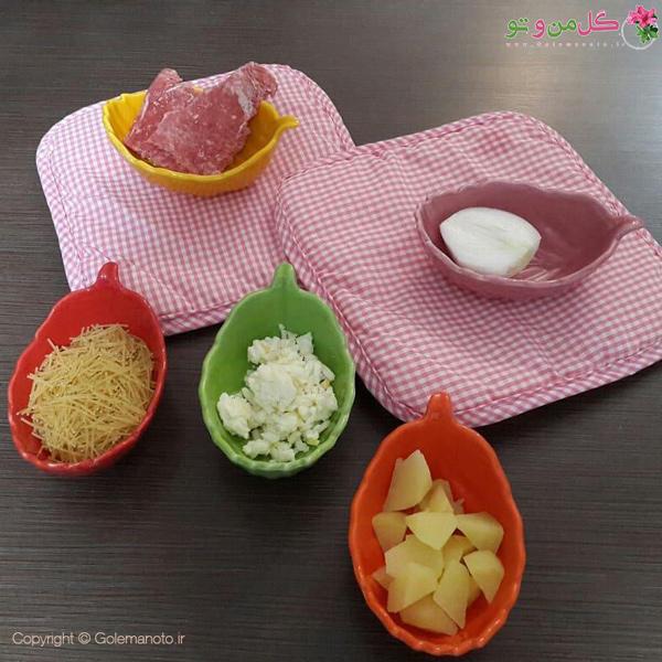 مواد لازم برای ماکارونی نوزاد
