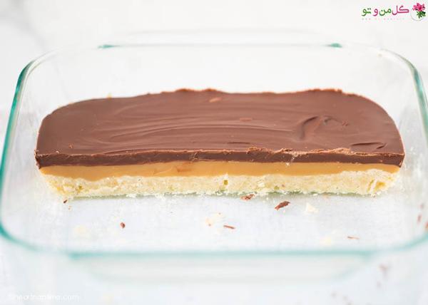 اسلایس کارامل و شکلات تویکس