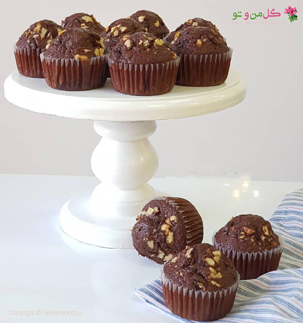 کاپ کیک شکلاتی موزی