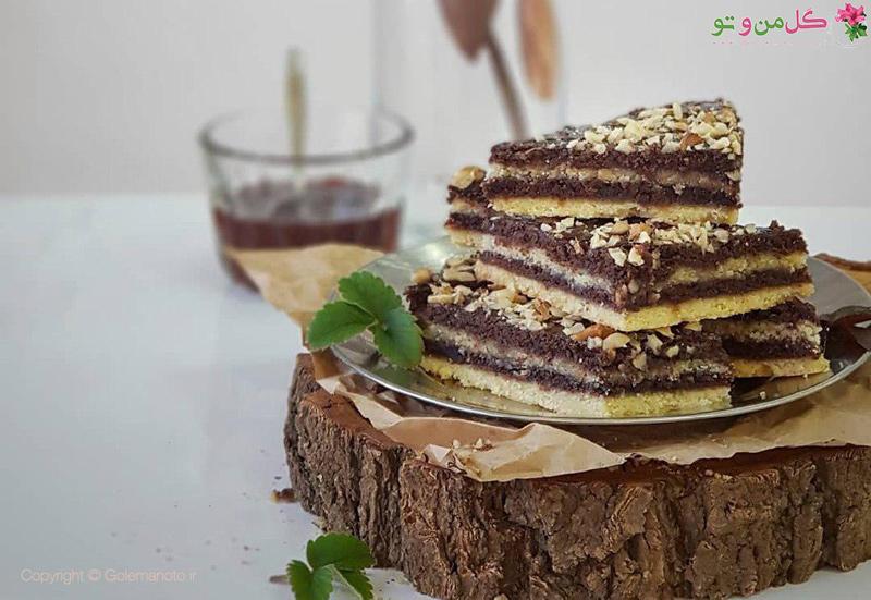 طرز تهیه شیرینی دو رنگ مارمالادی
