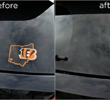 پاک کردن چسب روی برچسب از ماشین
