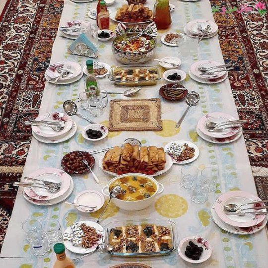 سفره افطاری مهمانی