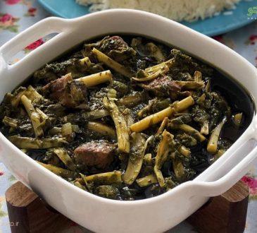 طرز تهیه خورش کنگر سبزی