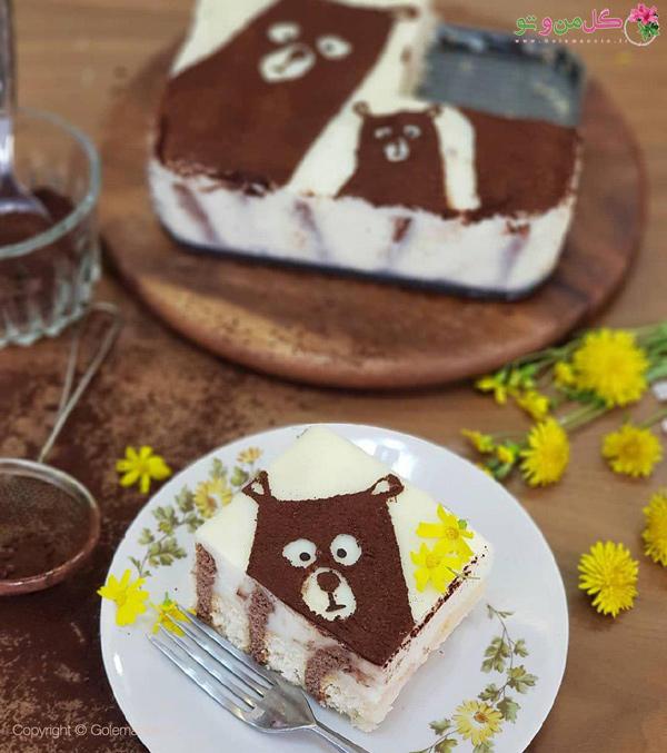کیک پیانو با لیدی فینگر