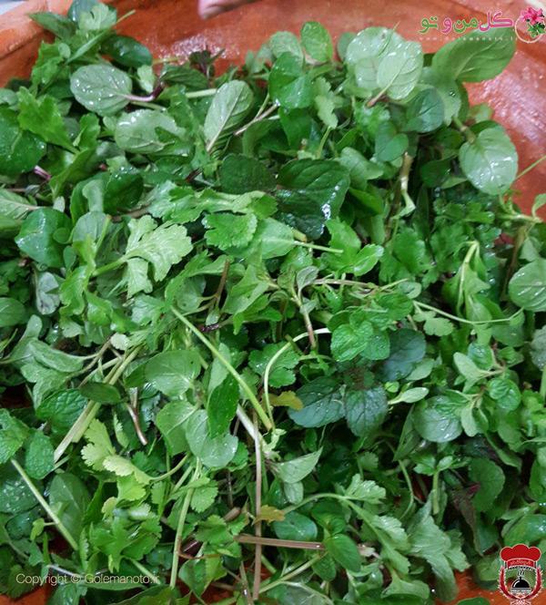 سبزی های مخصوص جوجه ترش گیلانی