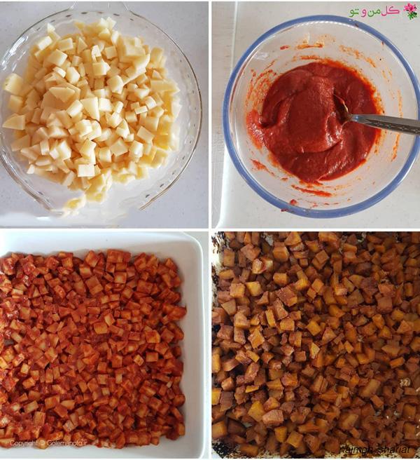 مواد لازم برای کاسترول مرغ و سیب زمینی