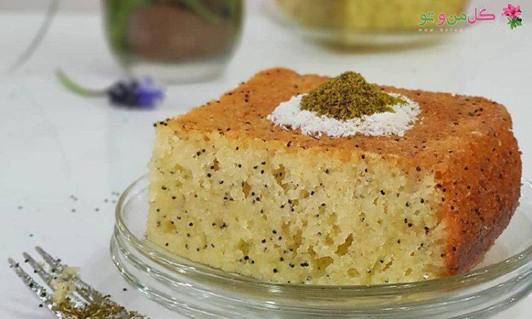 طرز تهیه کیک با تخم خرفه