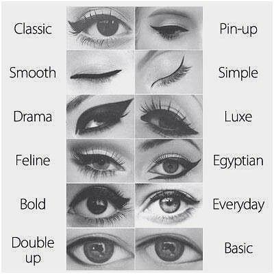 انواع خط چشم ها