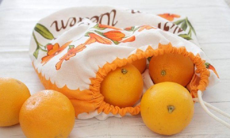 درست کردن کیسه قابل استفاده مجدد برای حمل مواد غذایی