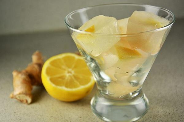 یخ مکعبی لیمو ترش و زنجبیل