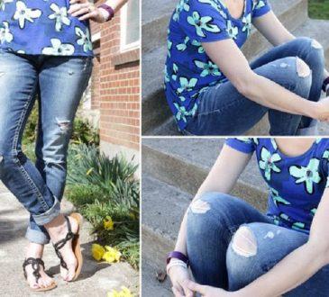 درست کردن شلوار جین پاره