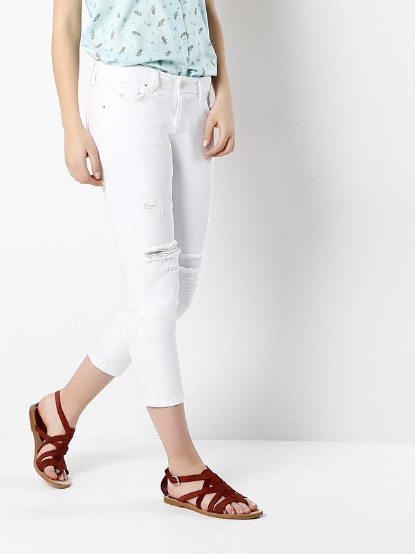 شستن شلوار جین سفید