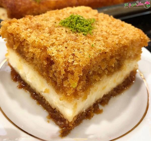 کیک کاراملی کرم دار ترکیه