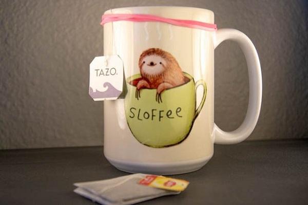 از افتادن کیسه های چای جلوگیری کنید.