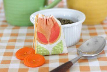 درست کردن کیسه چای قابل استفاده مجدد