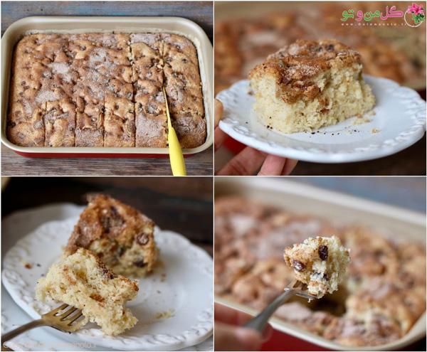 طرز تهیه کیک ماست دارچینی با کشمش