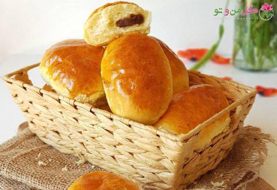 طرز تهیه نان پنبه ای با مغز حلوا