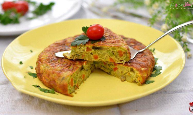 طرز تهیه املت سبزیجات