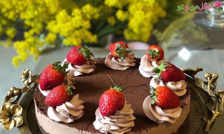 طرز تهیه چیز کیک شکلات تلخ