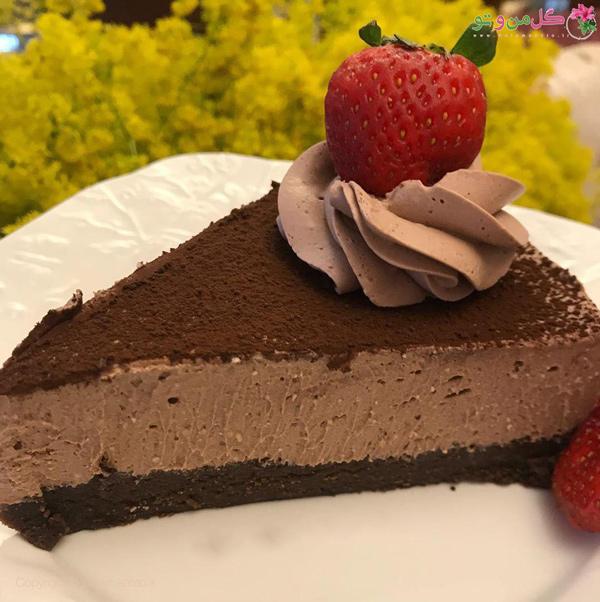 چیز کیک شکلات تلخ