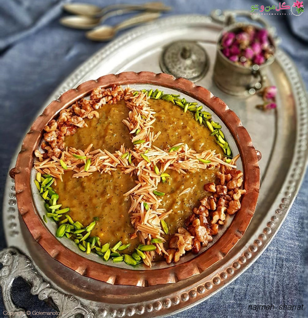 طرز تهیه حلوا هفت تخم جهرمی
