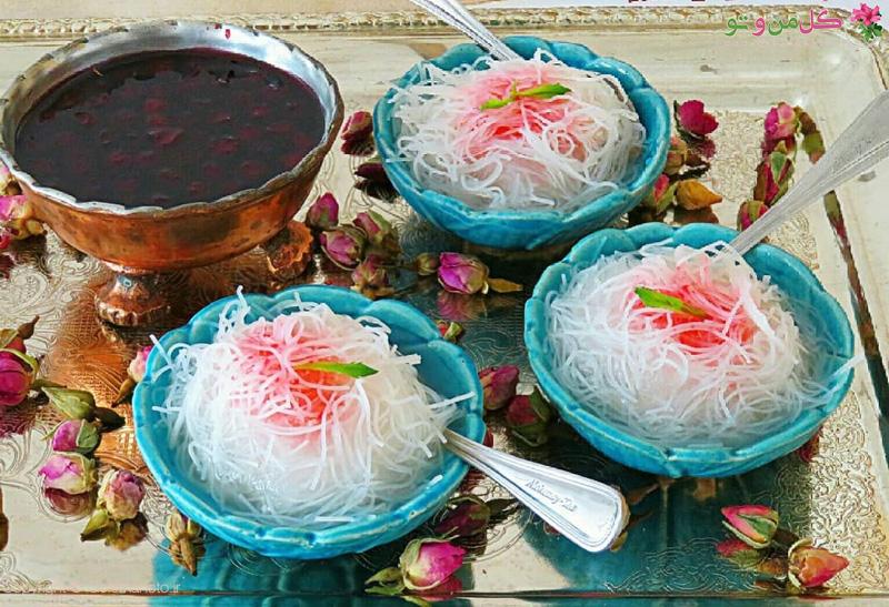 طرز تهیه فالوده شیرازی در خانه