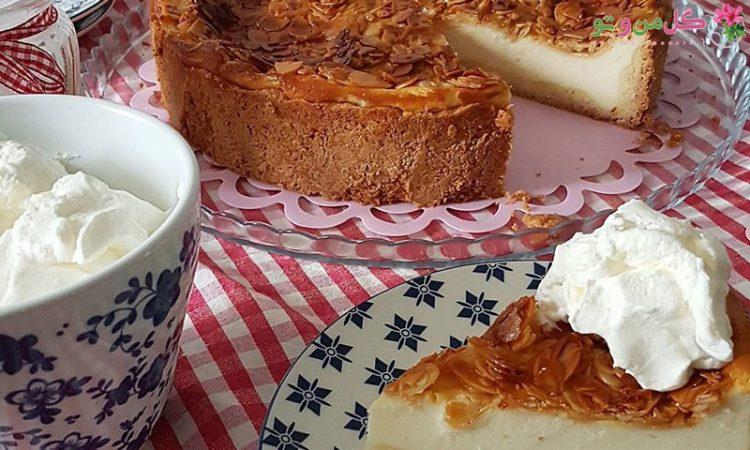 طرز تهیه چیز کیک بادام و عسل