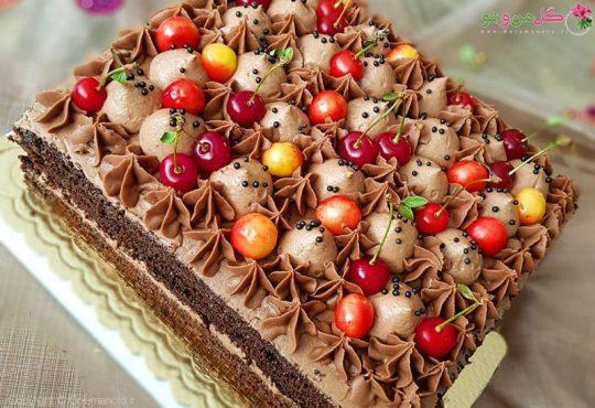 طرز تهیه کیک شکلاتی بدون همزن برقی