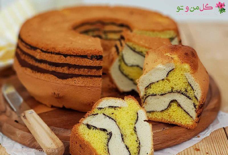 طرز تهیه کیک زرافه
