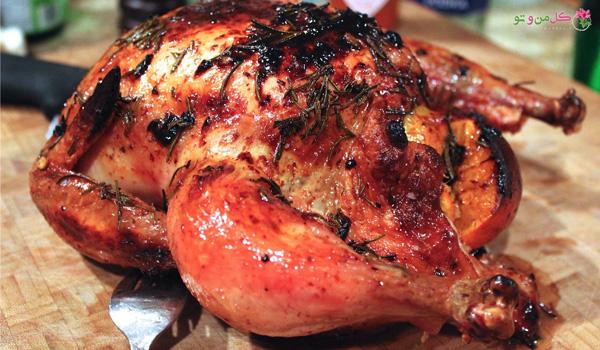 مرغ بریان - انواع غذا با مرغ