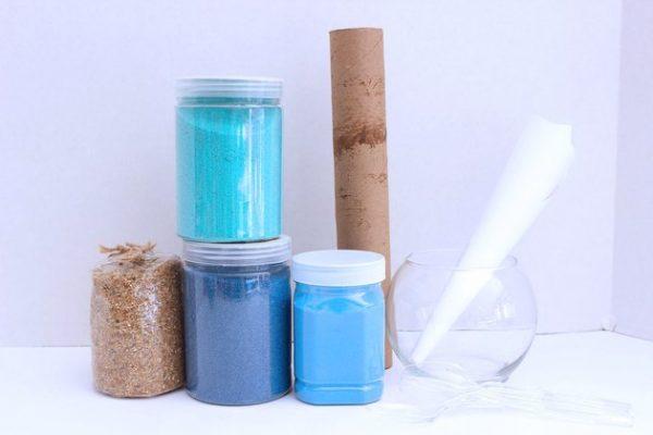 مواد لازم ساخت تراریوم شنی برای گیاهان هوازی