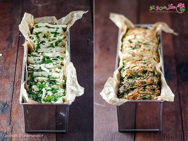 قبل و بعد از رفتن به فر نان سیر